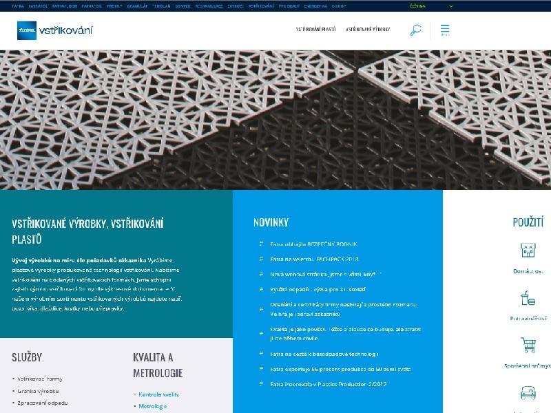 Nová webová stránka pro VSTŘIKOVÁNÍ